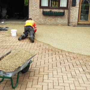 Resin Installation With Brickweave Overlay