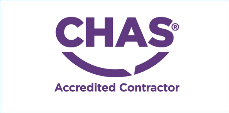 JDMA is a CHAS Accredited Contractor