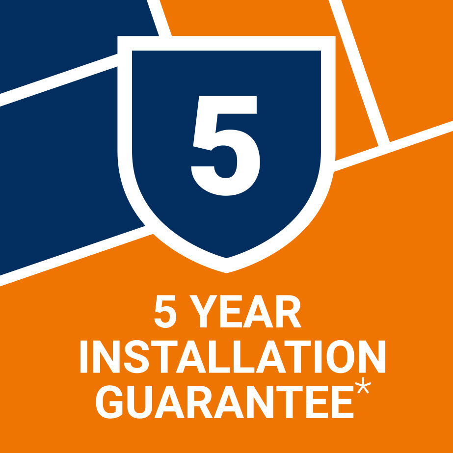 5 Year Installation Guarantee